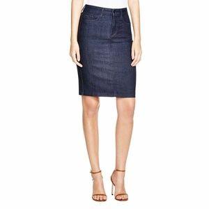 NYDJ Denim Skirt Dark Blue Straight Lift Tuck Tec